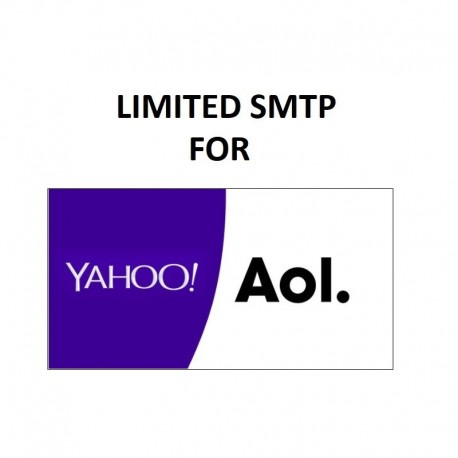LIMITED SMTP SERVER - FULL SPF, DKIM, DMARC CONFIGURED ( NEW & FRESH ) FOR YAHOO | AOL