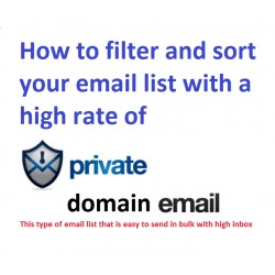 I WILL GUIDE YOU TO FILTER AND SORT YOUR EMAIL LIST WITH A HIGH RATE OF PRIVATE DOMAIN MAIL